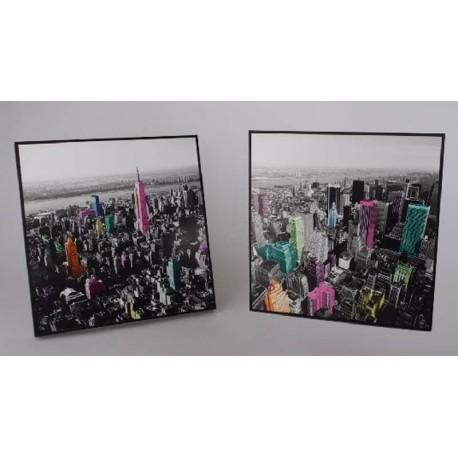Conjunto de cuadros madera New York