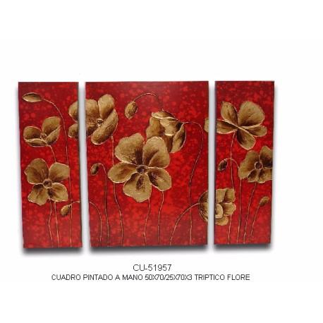 Triptico flores